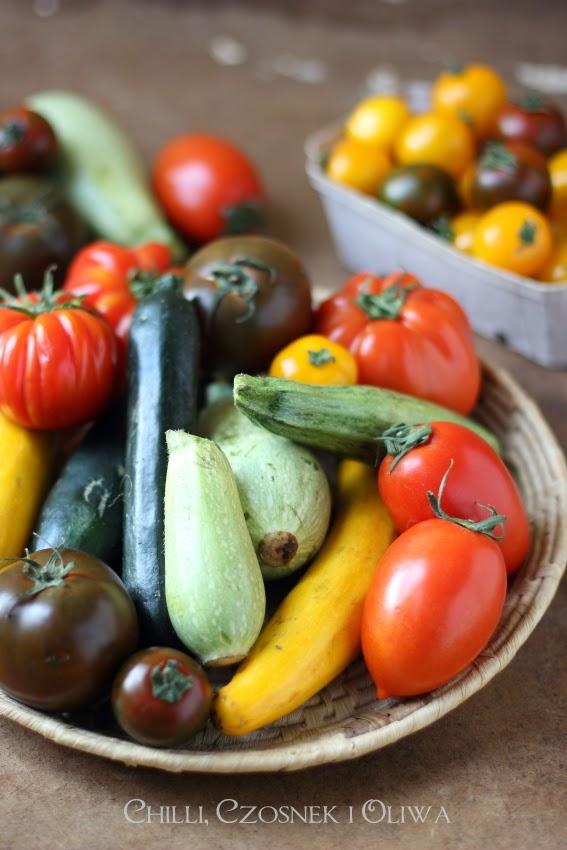 letnie cukinie i pomidory rozne odmiany