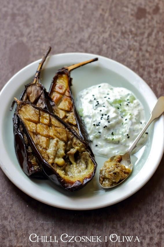 pieczony baklazan z sosem tzatziki