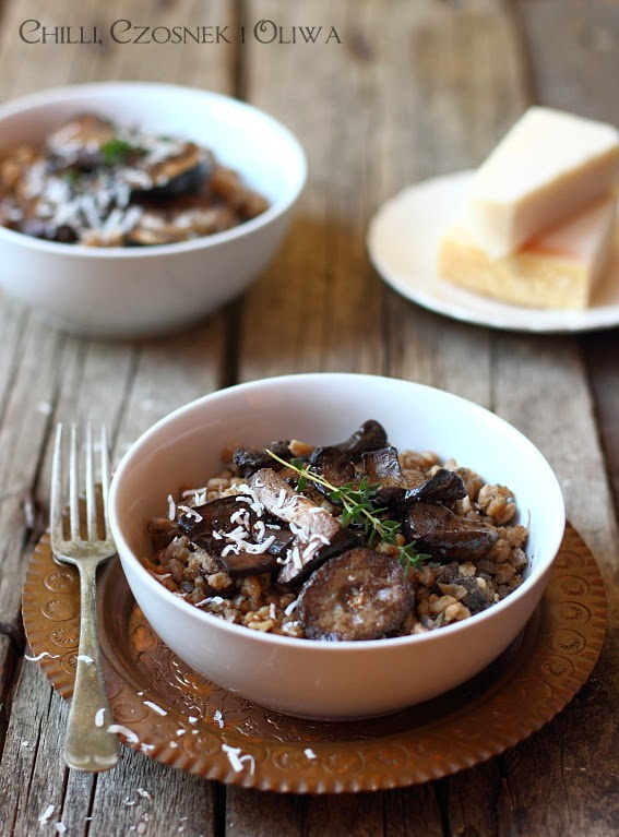 przepis na risotto z grzybami kasza peczak plaskurka