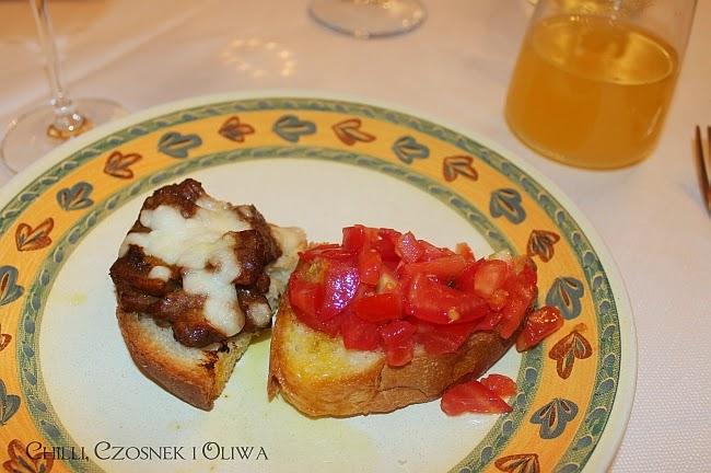bruschetta al pomodoro i z grzybami
