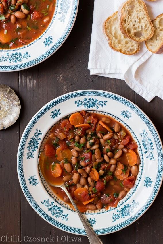 prosta zupa z fasola bez bulionu