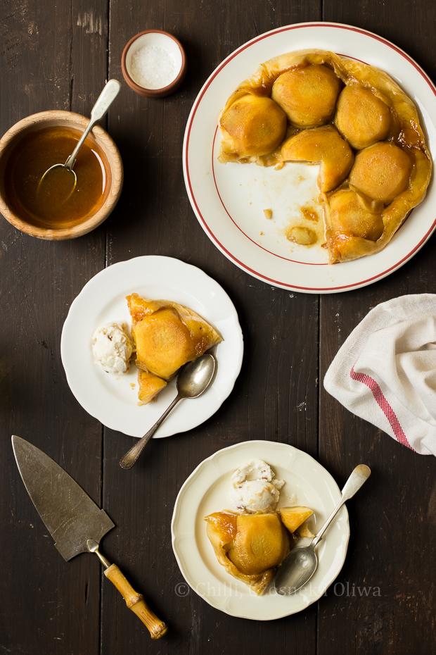 Tarta tartin z jabłkami i solonym karmelem