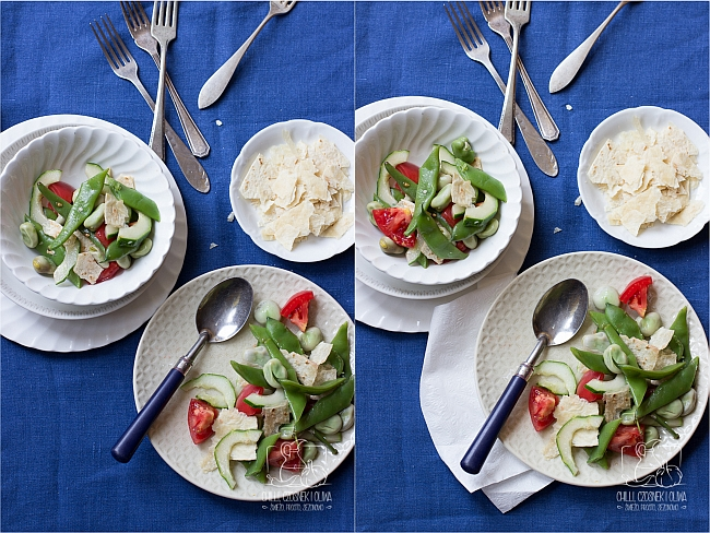 Kulisy fotografii kulinarnej - zdjęcie salatki / Chilli, Czosnek i Oliwa