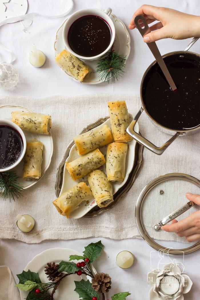 Paszteciki do barszczu z ciasta filo z pieczarkami i soczewicą / Chilli, Czosnek i Oliwa
