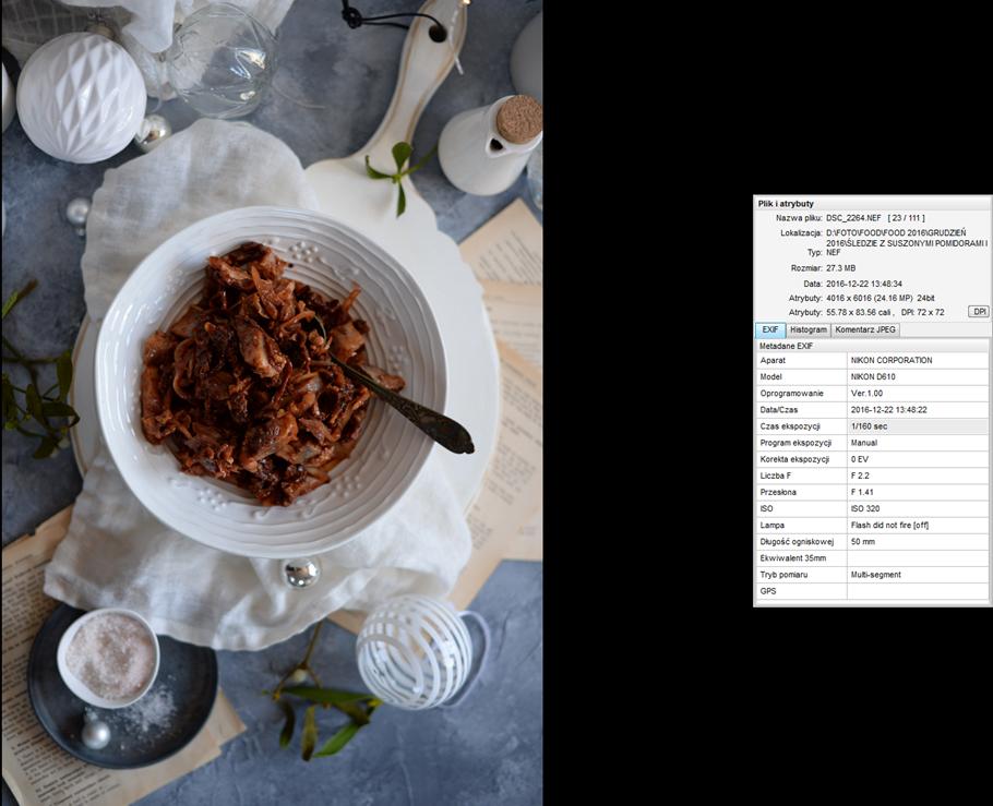 Kulisy fotografii kulinarnej: omówienie zdjęcia