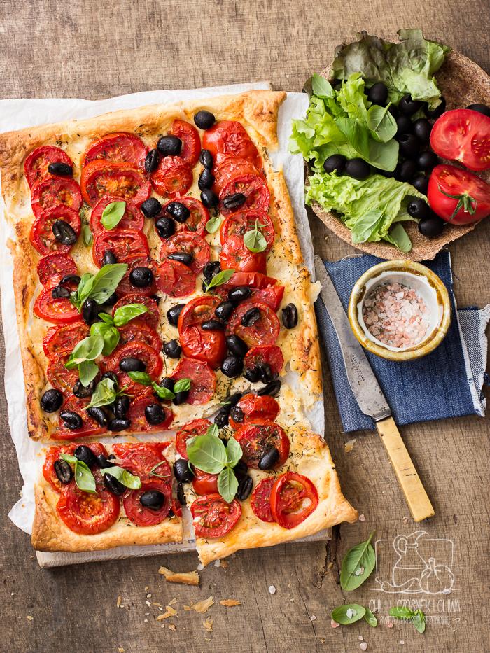 Tarta migdałowo-serowa z pomidorami/ Chilli, Czosnek i Oliwa